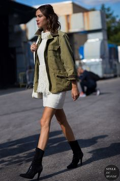Army Green Is a Major Street Style Trend at New York Fashion Week | StyleCaster