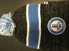 NFL Detroit Lions Nor'easter Cuff Knit Hat w/ Pom