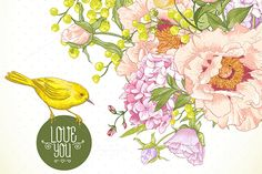 Spring Floral Bouquet by Depiano on Creative Market