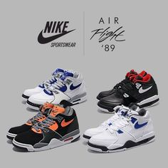 Nike Air Flights 89 Cool Trainers, Nike Trainers, Running Shoes Nike, Nike Shoes, 90s Sneakers, Nike Poster, Nike World, Nike Air Flight, Basket Nike