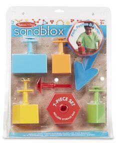 Amazon.com: Melissa & Doug Sandblox Sand Shape-and-Mold Tool Set: Melissa & Doug: Toys & Games