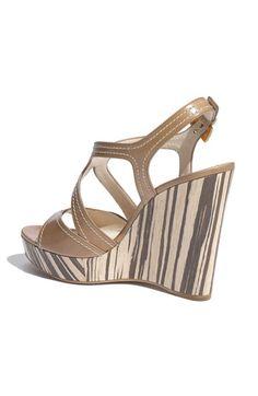 Prada Wood Bottom Wedge Sandal