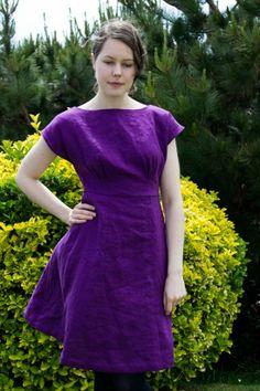 Anna in Purple Linen by Johanna | Project | Sewing / Dresses | Kollabora