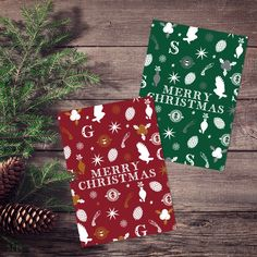 Harry Potter Gryffindor & Slytherin Christmas cards