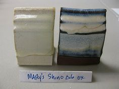 Mary's Fake Shino cone 6 oxidation  35 Frit 3195  24 Silica  16.2 Cornwall Stone  7.8 Whiting  6.0 EPK  4.8 Zinc Oxide  6.6 Tin Oxide  (  Add : 2.0 Iron Oxide for original shino recipe)  Added 8% Rutile for the tile above.
