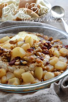 Baked Brie with Pears and Walnuts and $100 Crate & Barrel Gift Card Giveaway