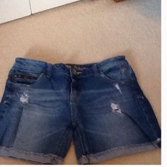 "Girls Justice Jean Shorts 12"" from the waist. Justice Shorts Jean Shorts"