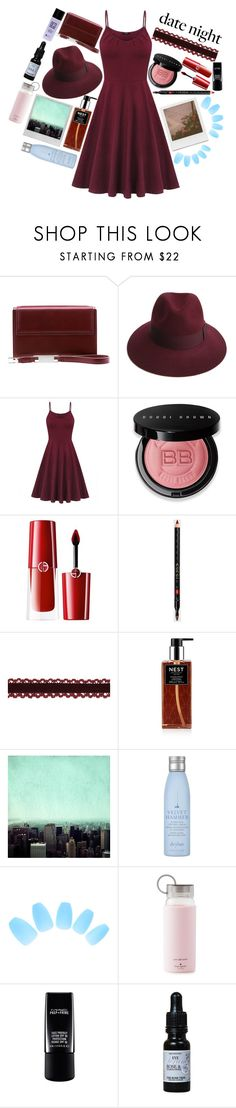 """""""Nothing But Love"""" by raynebowmaster on Polyvore featuring Lautēm, Justine Hats, Bobbi Brown Cosmetics, Giorgio Armani, Gucci, Nest Fragrances, Impossible Project, Polaroid, Drybar and Kate Spade"""