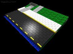 Lego Road, All Lego, Custom Lego, Lego Building, Lego Brick, Lego City, Legos, Roads, Centre