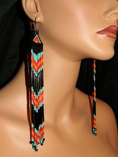 Native American Beautiful Turquoise and Black <3    /  So pretty EL.