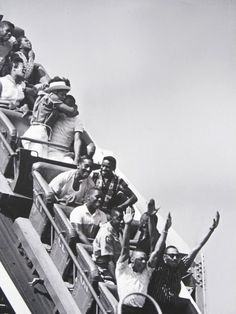 The Cyclone, Coney Island, 1962  Photo by Nat Norman I love the wide assortment of reactions!