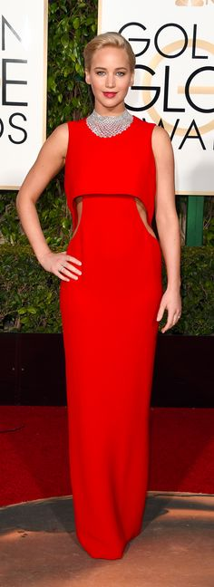 Jennifer Lawrence's Cutout Golden Globes Gown Will Bring Tears of Joy to Your Eyes