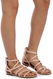 Pink Loop Cut Out Sandals