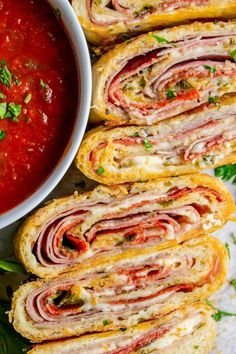 Classic Stromboli Recipe (Easy Dinner or Quick Appetizer!) from The Food Charlatan Classic Stromboli Recipe (Easy Dinner or Quick Appetizer!) from The Food Charlatan Quick Appetizers, Appetizer Recipes, Salami Recipes, Beef Recipes, Appetizer Dinner, Chicken Recipes, Pizza Appetizers, Italian Appetizers, Skillet Recipes