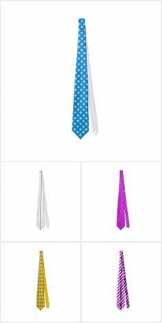 Geometric Stripes Squares Colorful Neckties