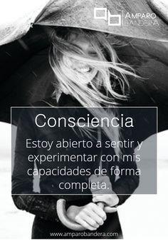 Consciencia #Terapia #DecidoSerFeliz #Bienestar #SaludEmocional