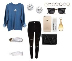"""""""Untitled #1075"""" by alyssakate96 on Polyvore featuring adidas, River Island, Converse, Iosselliani, Kenneth Jay Lane, H&M, Toast, Christian Dior and The Cambridge Satchel Company"""