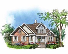 Cottage House Plan with 2024 Square Feet and 3 Bedrooms(s) from Dream Home Source | House Plan Code DHSW41536