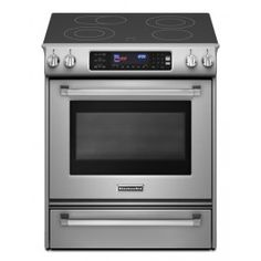 """PRO 30"""" Stainless Steel Electric Slide-In Smoothtop Range - Convection $2,000 this is a kitchen aid good product."""
