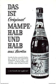 Werbung - Original-Werbung/Anzeige 1961 - MAMPE HALB UND HALB - BERLIN - ca. 155 x 230 mm