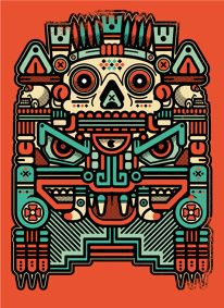 Saved by KORCHO (korcho). Discover more of the best Xolotl, El, Animal, Behance, and Vector inspiration on Designspiration Mexican Graphic Design, Mexican Designs, Graphic Art, Arte Tribal, Aztec Art, Doodles Zentangles, Character Illustration, Illustration Art, Mayan Tattoos