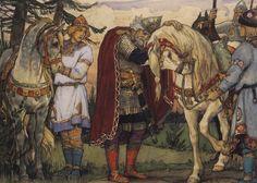 Viktor Mikhailovich Vasnetsov, Olegs farewell to his horse, 1899