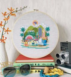 Youll be California dreamin with my modern cross stitch pattern of Los Angeles! Featuring landmarks like Griffith Observatory, Graumans Chinese Theatre, Capitol Records, Walt Disney Concert Hall, and even Randys Donuts, this design is sure to please both locals and tourists! This digital PDF counted cross stitch pattern is an instant download so you can start stitching today!  Pattern PDF includes: - full color chart - list of DMC thread colors - color photo for reference - landmarks key…
