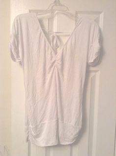 Ladies Shirred V-Neck Open Back Top (Zara TRF, Size L)