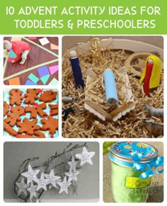 10 fun and easy advent activities for toddlers and preschoolers. Toddlers And Preschoolers, Christmas Activities For Toddlers, Advent For Kids, Preschool Christmas, Christmas Crafts For Kids, Christmas Themes, Christmas Fun, Holiday Fun, Xmas