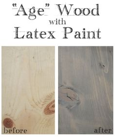 Video Tutorial: Age Wood with Latex Paint