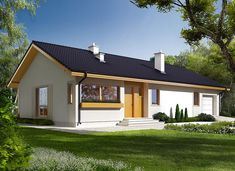 Eryk G1 (30 stopni) - zdjęcie 2 Dream House Exterior, Dream House Plans, Home Reno, Modern House Design, Planer, Bungalow, Cottage, Outdoor Structures, Mansions