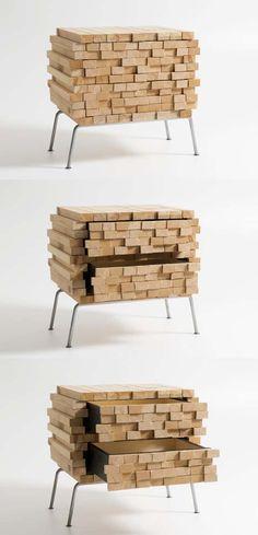 wooden secret dresser table