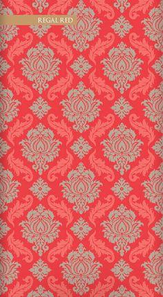 Wallpaper Republic Damask / WR0143JD-RR (regalred)