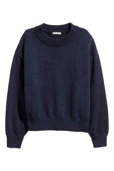 Sweter - Ciemnoniebieski - ONA | H&M PL