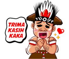 Pace and Mace Papua by Arif Hakim-Arnes-Indra (Branch Jayapura) sticker Emoticon, Emoji, Indonesian Language, Cartoon Jokes, Self Reminder, Cute Stickers, Funny Faces, Funny Photos, Animated Gif