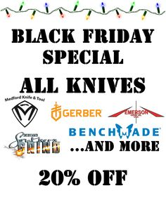 Autrey's Armory Black Friday Special - All Brands of Knives 20% OFF! #blackfriday #knives