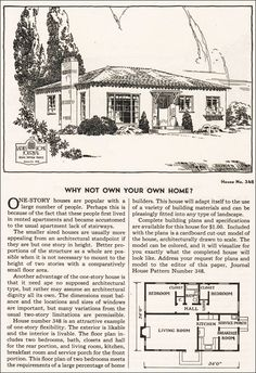 1935 Ladies Home Journal Plans - No. 348 small but maybe a guest home