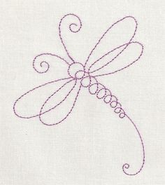 Tattoo idea?     Dragonfly Line Machine Embroidery Design. $1.99, via Etsy.