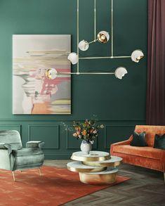 ideas de salones minimalistas en tendencias, muebles de colores ...