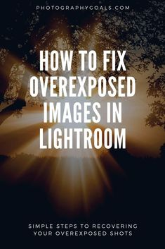These simple Lightroom tips fix will make it simple and easy to fix overexposed photos in Lightroom without losing any quality. | #photogoals | Photo Editing Tips | Adobe Lightroom Tips Online Photo Editing, Image Editing, Photography Editing, Photography Software, Learn Photography, Photography Styles, Photography Competitions, Photography Basics, Photography Lessons
