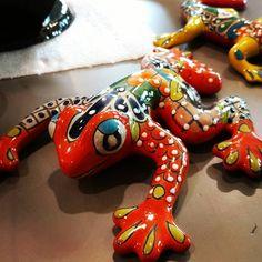Beautiful Handmade Talavera Wall Frog Mexican Garden, Dinosaur Stuffed Animal, Toys, Wall, Handmade, Animals, Beautiful, Design, Old Town