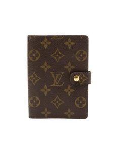 c5f812671a22 Louis Vuitton  brown monogram canvas vintage  PM  agenda Louis Vuitton  Wallet