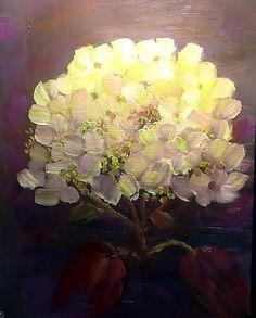 """Hydrangea""  oil painting by betsy leavitt"