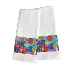 Fish in the Hood Hand Towels