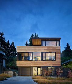 contemporary exterior in Seattle's Mt Baker neighborhood by chadbourne + doss architects