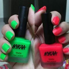 #newblogpost #Review on #Nykaa #Neon Matte Nail Enamel in shade Cherry Pop & Key Lime Slush 💅💅💕💕 #makeuplover #beauty #happiness  #makeuplove 💓 #makeup 💄💅👄 💕 #madaboutmakeup 💞💞 #indianmakeupandbeautyblogger #indianmakeup 👄 #indianblogger #indianblog💙 💛 #passion #love 💕💕 #blogger ✍✍ #india #makeupadda 👸👯👄💋 #makeuplover 😝 #makeupaddict 😋😋 #livelovemakeup # 😬 #nykaa #nail #nailenamel 💜💜