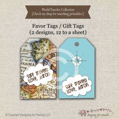Hey i found this really awesome etsy listing at httpetsy world traveler favor tags blue traveler thank you tags traveler gift tags gumiabroncs Gallery