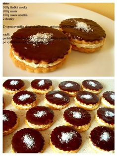 Slovak Recipes, Czech Recipes, Czech Desserts, Pav Recipe, Hungarian Cake, Yummy Treats, Yummy Food, Cooking Cookies, Sweets Cake