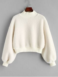 Autumn and Winter Solid Full Short Mock Sweatshirt Plain Mock Neck Faux Shearling Teddy Sweatshirt - Fashion Ideas Girls Fashion Clothes, Winter Fashion Outfits, Trendy Fashion, Fashion Blogs, Style Clothes, Fashion Women, Style Fashion, Fashion Design, Sweat Shirt