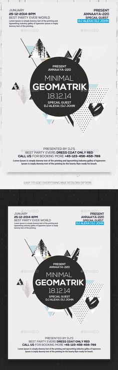 Abstract Minimal Flyer Psd Minimal, Photoshop and Flyer template - geometric flyer template